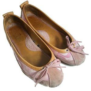 COACH Jenilee Flat Signature C Shoes Sz 7M